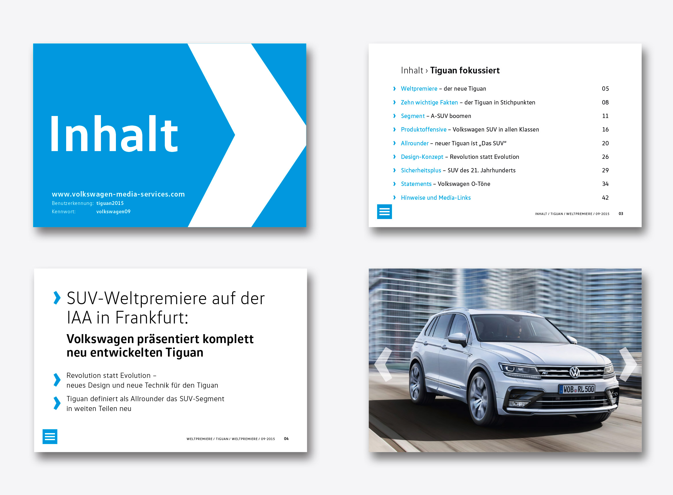 new generation pr-tools für Volkswagen
